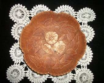 1500 1600s DOES 50s ROCOCO Style FLORAL Bowl Subtle Colors Rococo is the Style of the Composite Used