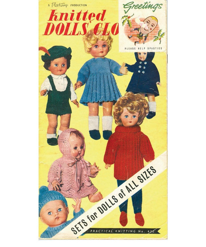Vintage 28 page knitting pattern book for Dolls by OzgirlfromOz