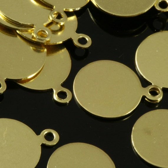 500 pcs 8 mm raw brass circle tag,raw brass Charms ,raw brass pendant, raw brass findings 94R-100