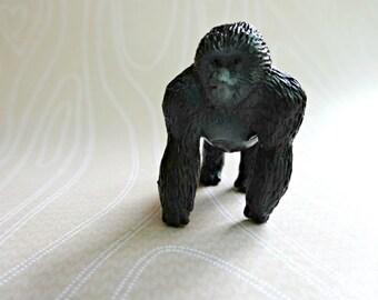 Plastic Gorilla Necklace, Small Plastic Animal Necklace, Zoo Animal Necklace, Small Plastic Gorilla, Gorilla Pendant Necklace, Ape Necklace