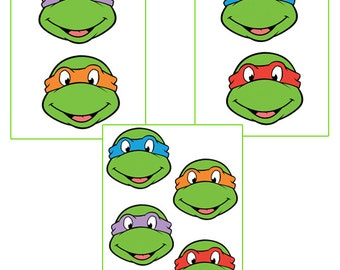 Instant download turtles - for balloon, stickers, lollipop, favor bags