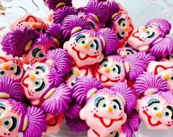 4 Inspired Sesame Street Abby Cadabby Hairbow center, pendant