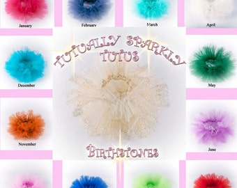 Birthstone baby tutu photo prop, newborn tutu, with matching headband,