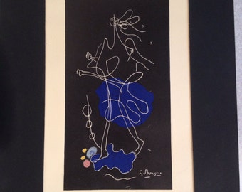"Georges Braque (1882-1963) Lithograph ""Derrier Le Miroir"" Unframed"