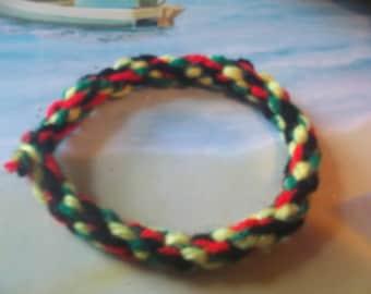 Boondoggle bracelets made of Yarn