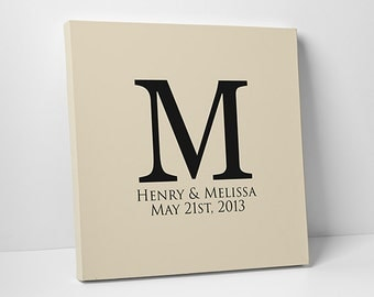 Wedding Canvas Guest Book // Custom Wedding Guest Book // Gallery Wrapped Canvas // Many Sizes Available
