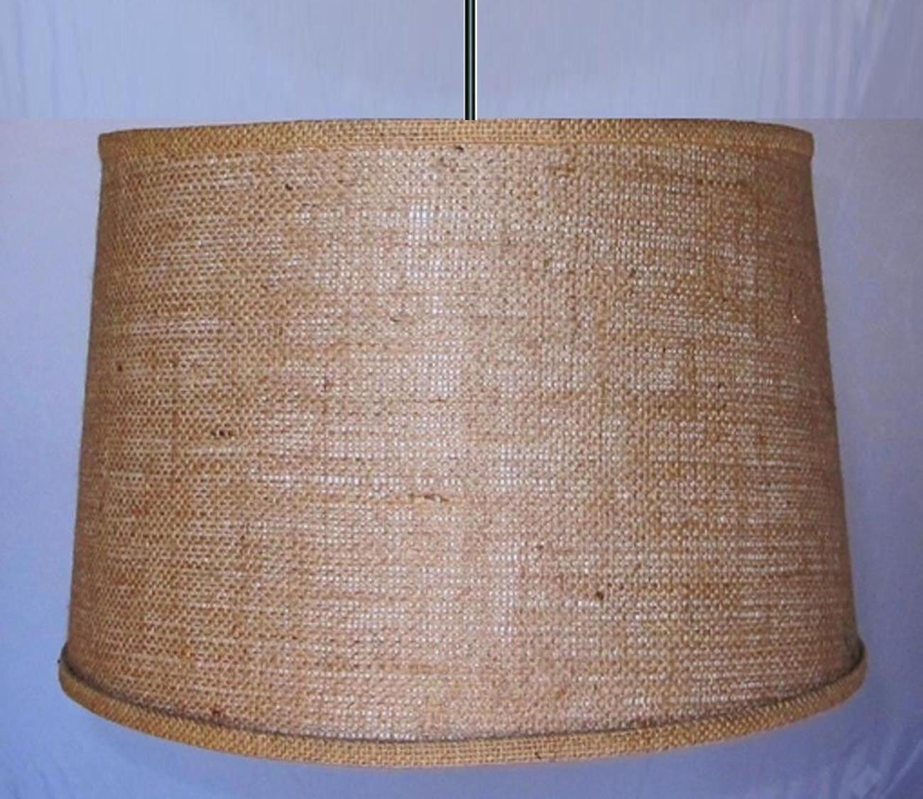 Rustic Vintage Antique Burlap Swag Lamp Pendant Light Hanging