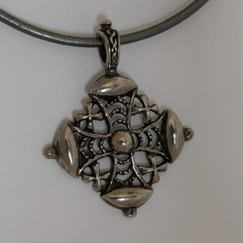 silver jerusalem cross necklace day giftchristian