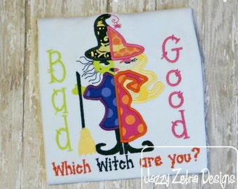 Good Witch or Bad Witch Applique Design