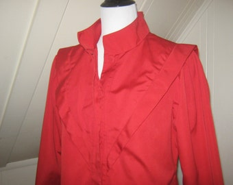 Vintage  Misty Harbor Classic Coat Red Size 8 / Rain Coat / Spring Jacket