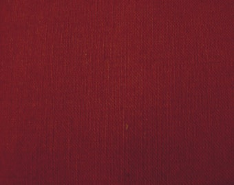 Vintage Wine Colored Broadcloth Fabric by the yard - 36 inches long  x 44.5 inches wide