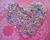 Colorful Mixed 3MM Shiny Flatback Half Pearls - 500pcs