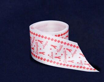 10 Yards of Satin Red Ribbon By The Yard (RIB-06)