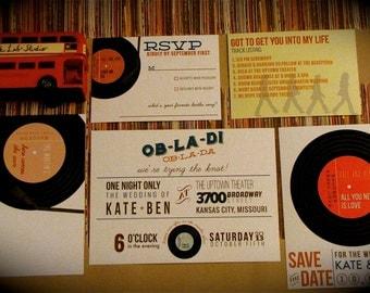 Records Wedding Invitation // Diy Printable