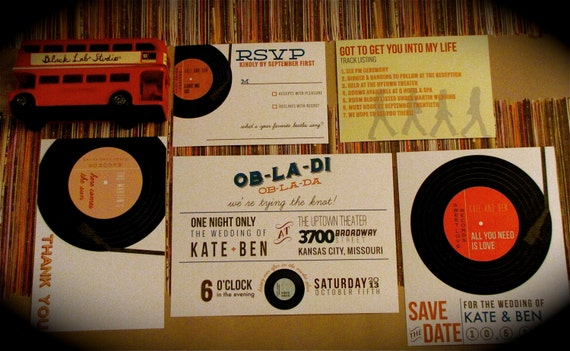 Record Wedding Invitations: Records Wedding Invitation // Diy Printable
