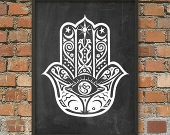 Hamsa Hand Wall Art Poster