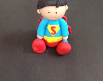 Superman inspired fondant cake topper