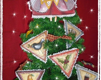 NOEL Angel and Ornaments  email pattern packet by, Alessio Meggiato