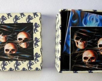 memory game skulls matching game