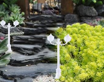 Miniature Fairy Garden Street Lamp, Miniature Street Light, Backrad Light Post, 6 pieces