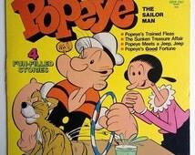 Popeye The Sailor Man - 4 Fun Filled Stories LP Vinyl Record Album, Peter Pan Records - 1114, Children's, Story, Original Pressing