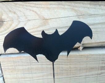 Metal Halloween Bat Yard Stake Decoration