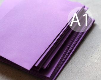 "A1 / 4-Bar Radiant Orchid Purple Envelopes - 3x5 inches (true size 3 5/8"" x 5 1/8"") - Quantity 25"