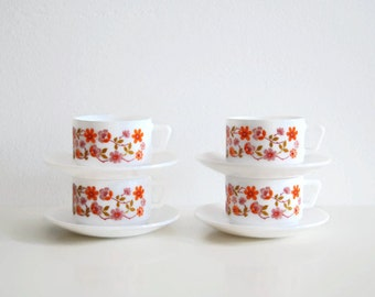 Retro arcopal cups and saucers