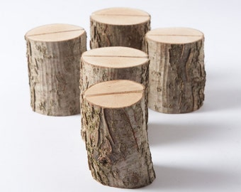 30 Rustic Place Card Holders Table Number Holder Nut Tree Wedding Decor