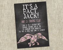 Duck Dynasty Birthday, Party Invite, Children's, Party Girl Invitation, Si, Pink Camo, It's a Fact, Jack - Customizable - PRINTABLE / DIY