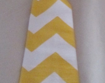 Baby Boy/ Toddler Yellow Chevron Tie.  It will fit a baby to a 2 year old.