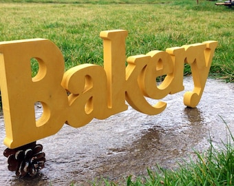 Kitchen sign  Bakery, Fresh Baked Bread at home, Hand Painted Vintage Bakery Sign, Bakery Sign