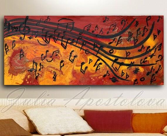 Abstract Music Notes Art: Abstract Print Musical Notes Music Painting Abstract Music