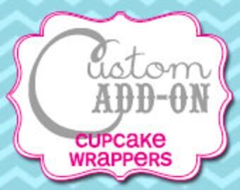 Matching Custom Cupcake Wrapper - Printable