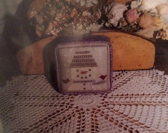 January Ornament Cross Stitch Pattern by Ewe and Eye and Friends 1994