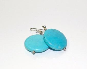 Kingman Blue Turquoise Earrings  #135
