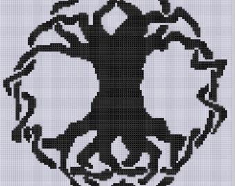 Celtic Tree 2 Cross Stitch Pattern
