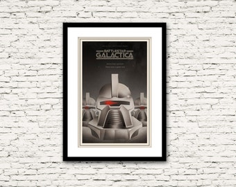 The Battlestar Galactica Poster 70's and 80's Sci Fi Collection Print 16x24