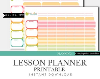 Teacher lesson planner | Etsy