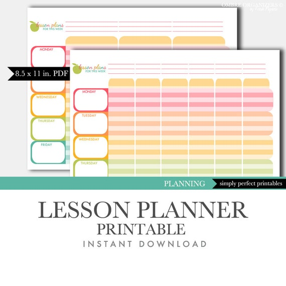 Inventive image with lesson planner printable