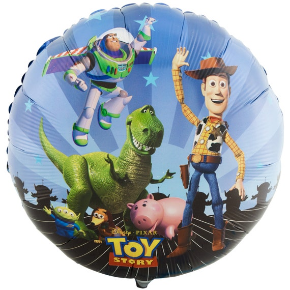 "18"" Toy Story Birthday Foil Mylar Balloons birthday party supplies decorations cookie Buzz Lightyear Rex Woody"