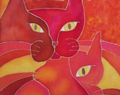 Psychedelic Cat Serie: Red Cats