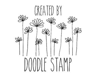 "Custom Created By Stamp, personalized rubber stamp, custom rubber stamp, custom branding stamp, customized stamp, 1.7""x1.7"" (hms7)"