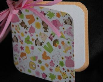 BABY GIRL Gift Tags - Set of 6 - Gift Basket Tie-ons - Package Tie-ons - Wine Bottle Tie-ons