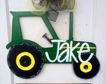 Tractor Door Hanger, Big Brother, Big Sister, Baby Door Hanger, Sibling, Welcomd