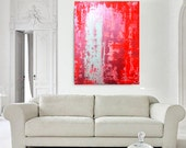 Love. LARGE Original handmade abstract painting on professional stretched canvas. 80x60 cm 31.5x23.5 inches - artybit