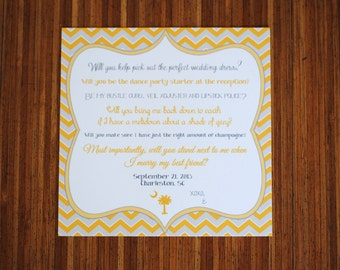 Custom Will You Be My Bridesmaid Card - Will You Be My Maid of Honor Card