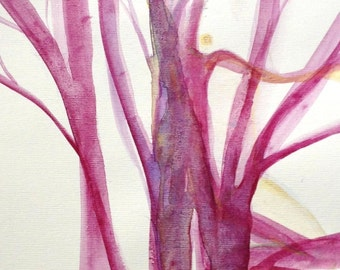Woman in the tree of life, original watercolor illustration. Special price!
