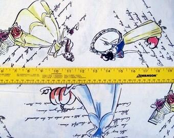 Disney Fashionable Princess Cotton Fabric Cinderella, Snow White, Belle BTY RARE VHTF
