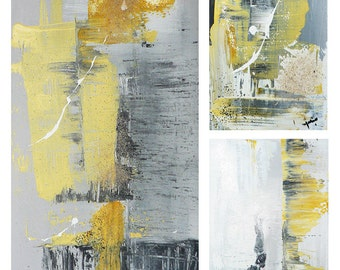 Original abstract paintings trio #180 - 181- 182
